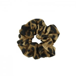 Scrunchie - Leopard Brown