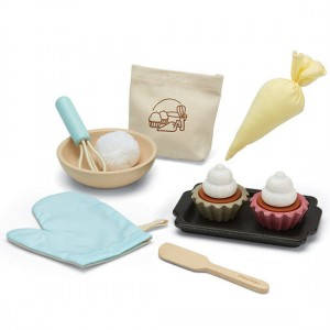 Plantoys - Houten Cupcake Set