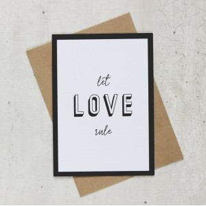 Cards By Eva - Let Love Rule